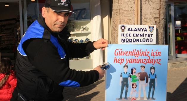 Alanya'da Polis halkı uyarıyor !