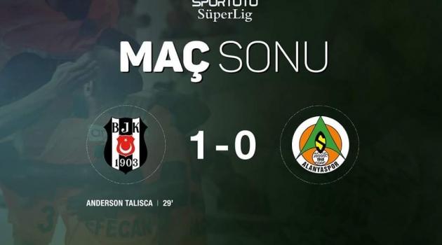 Beşiktaş - Alanyaspor : 1-0