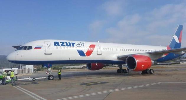 ALN-GZP Boeing B757 de İndi