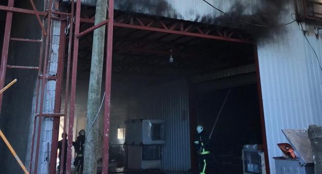 Dim Çayı'ndaki  fabrikada yangın çıktı