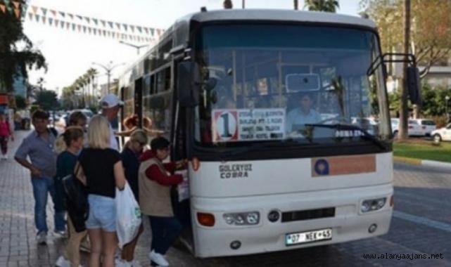 Alanya'da otobüs saatlerine kış güncellemesi