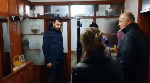 AK Parti Yönetimi Demirtaş'taki afetzedeleri ziyaret etti