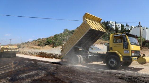 Alanya Belediyesi'nden asfalt çalışması