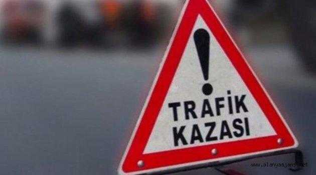 Alanya'da 4 ayrı kazada 1'i ağır 5 kişi yaralandı