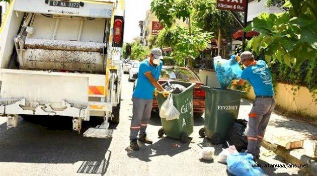 Alanya'da 4 günde 3 bin 891 ton atık toplandı