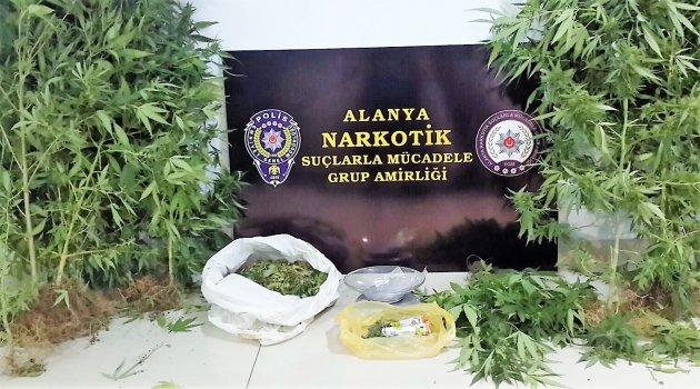 Alanya'da 60 yaşında uyuşturucudan tutuklandı
