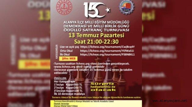 Alanya'da online satranç turnuvası