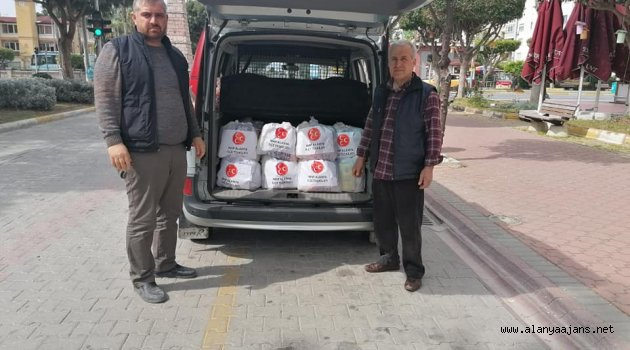 Alanya MHP erzak kolisi dağıttı