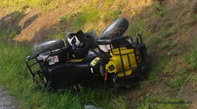 Alanya'da ATV kazası: 1 ölü, 1 yaralı