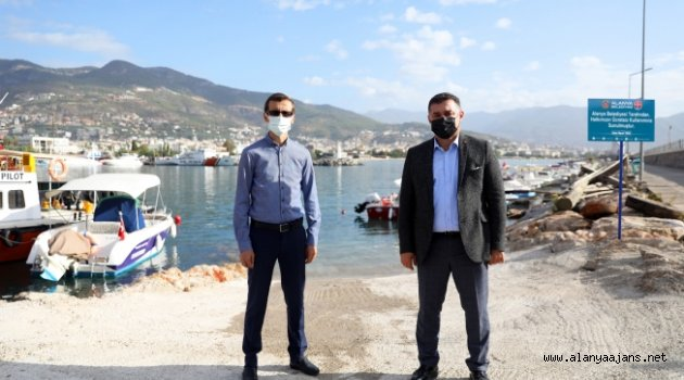 Alanya'da balıkçıların ücretsiz yaralanacağı rampa hizmete girdi