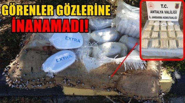 Alanya'da bir çuval dolusu uyuşturucu sahile vurdu!