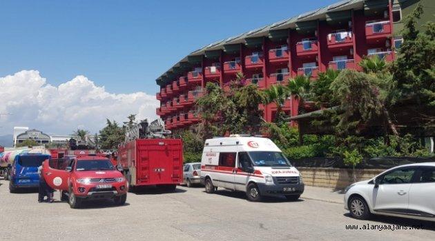 Alanya'da otelin disko bölümü cayır cayır yandı