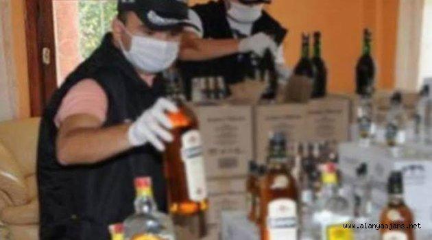 Alanya'da sahte içki baskını