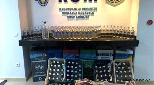 Alanya'da Sahte İçki Operasyonu