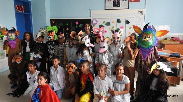 Alanya'daki eko okullarda tiyatrolu final