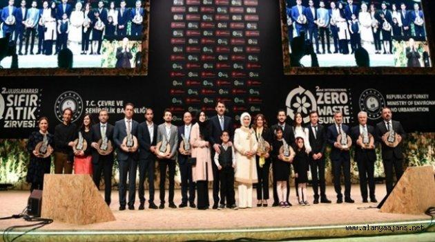 Alanya'ya 'Sıfır Atık' Ödülü