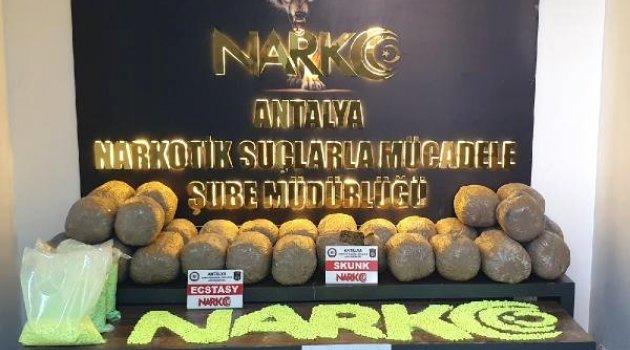 Antalya'da 30 Kilo Esrar ile 30 Bin Uyuşturucu Hap Ele Geçirildi: 2 Tutuklama