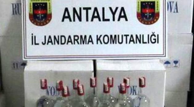 Alanya'da 7 Bin Şişe Kaçak İçki