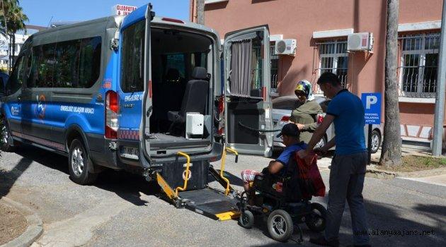 Büyükşehirden Engellilere servis hizmeti