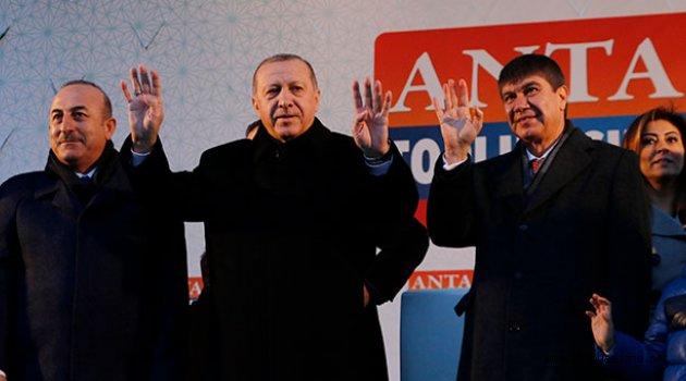 Cumhurbaşkanı Erdoğan'dan Antalya Mitingi