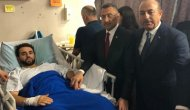 Cumhurbaşkanı Yardımcısı Oktay ve Bakan Çavuşoğlu'dan hastane ziyareti