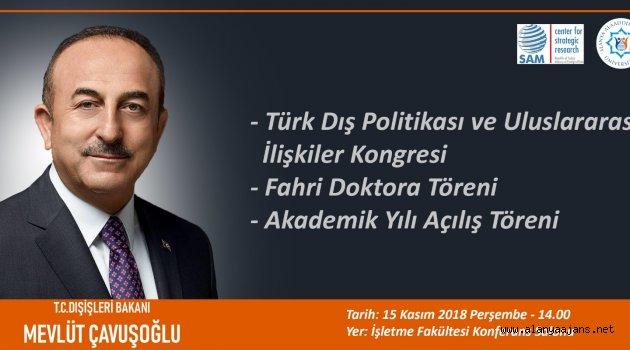 Dışişleri Bakanı Çavuşoğlu Geliyor