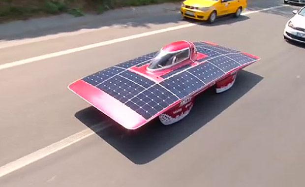 Güneş Arabası 'ARIBA 6' yollarda