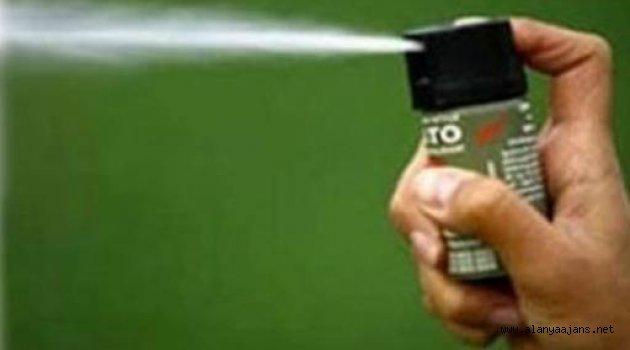 Hamile gazeteciye biber gazı