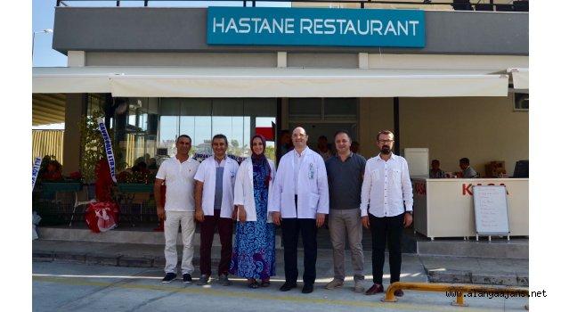 Hastane kafeteryası düzenlenen törenle  hizmete açıldı