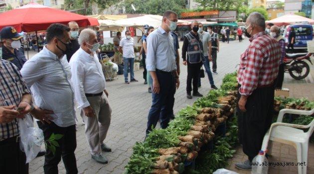 Kaymakam Ürkmezer'den pazar denetimi