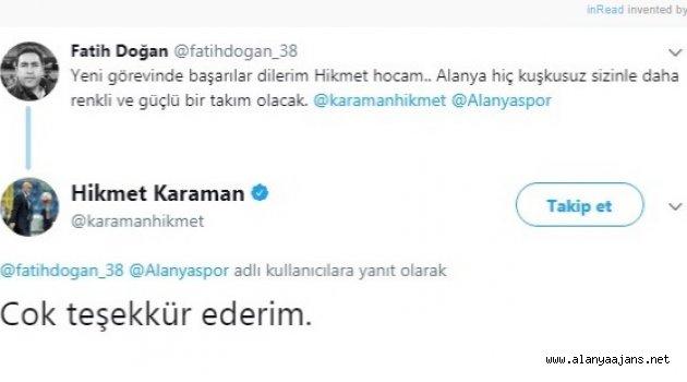 Alanyaspor'da Hikmet Karaman Dönemi
