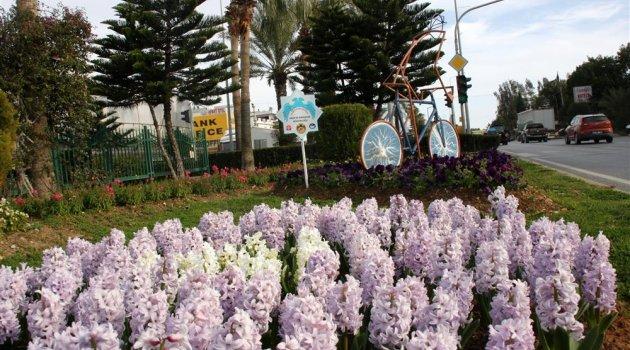 Parklar çiçek açtı