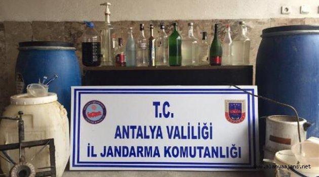 Sahte içki imalatına baskın