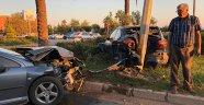 2 otomobil çarpıştı: 1'i çocuk 3 yaralı