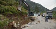 Dimçayı bölgesinde belediye aralıksız çalışıyor