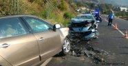 Alanya'da otomobiller çarpıştı: 1 ağır yaralı
