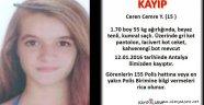 Kayıp Kız İçin Emniyet Alarma Geçti