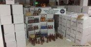 Alanya'da 7 bin 297 şişe içki ele geçirildi