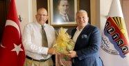 Letonya Büyükelçisi Başkan Şahin'i Ziyaret Etti