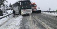 Konya Yolunda Yoğun Kar Yağışı