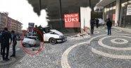 Alanya'da akıl almaz kaza: Dükkana çarparak durabildi