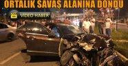 Alanya'da kazada ölümden dönen sürücü, otomobili bırakıp kaçtı