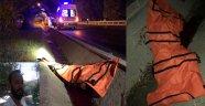 Alanya'da motosiklet kaldırıma çarptı: 1 ölü, 1 yaralı