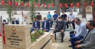 Alanya'da ülkücüler şehit Gündoğmuş'u kabri başında andı