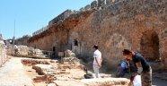 Alanya Kalesi'nde Selçuklu dönemine ait hamam bulundu
