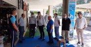 Alanya MHP'den turizm esnafına ziyaret