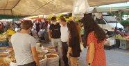 Alanya pazarlarında hem gıda hem de kovid denetimi