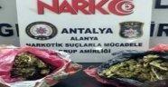 Alanya'da 2 kilo esrarla yakalanan şüpheli tutuklandı
