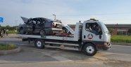 Alanya'da 2 otomobilin çarpıştı kazada 5 yaralı