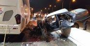 Alanya'da araç duvara çarparak durabildi: 1 ağır yaralı